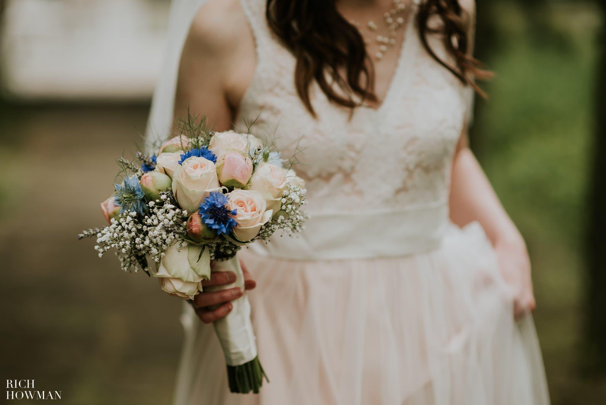 Brides bouquet photo - film effect