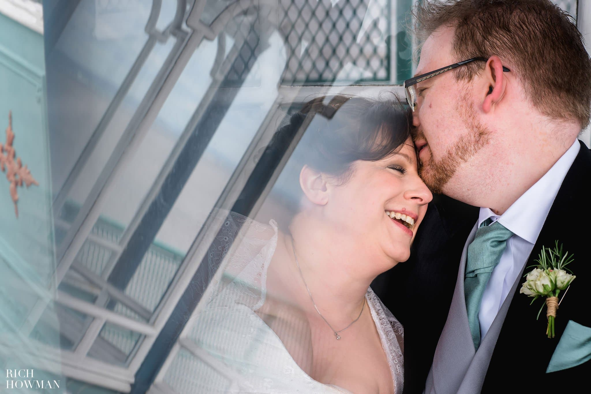 Clevedon Pier Wedding Photos Brid and Groom Portrait