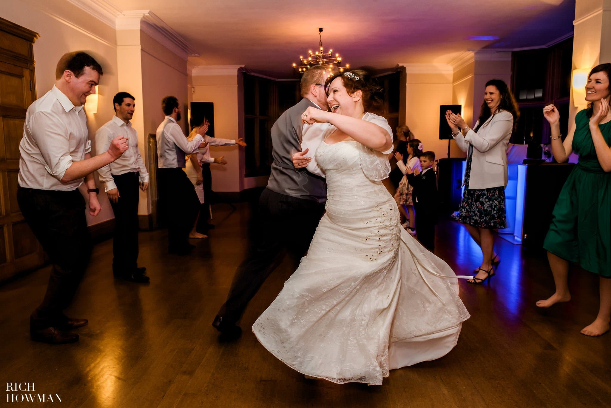 Coombe Lodge Wedding Bride and Groom dancing
