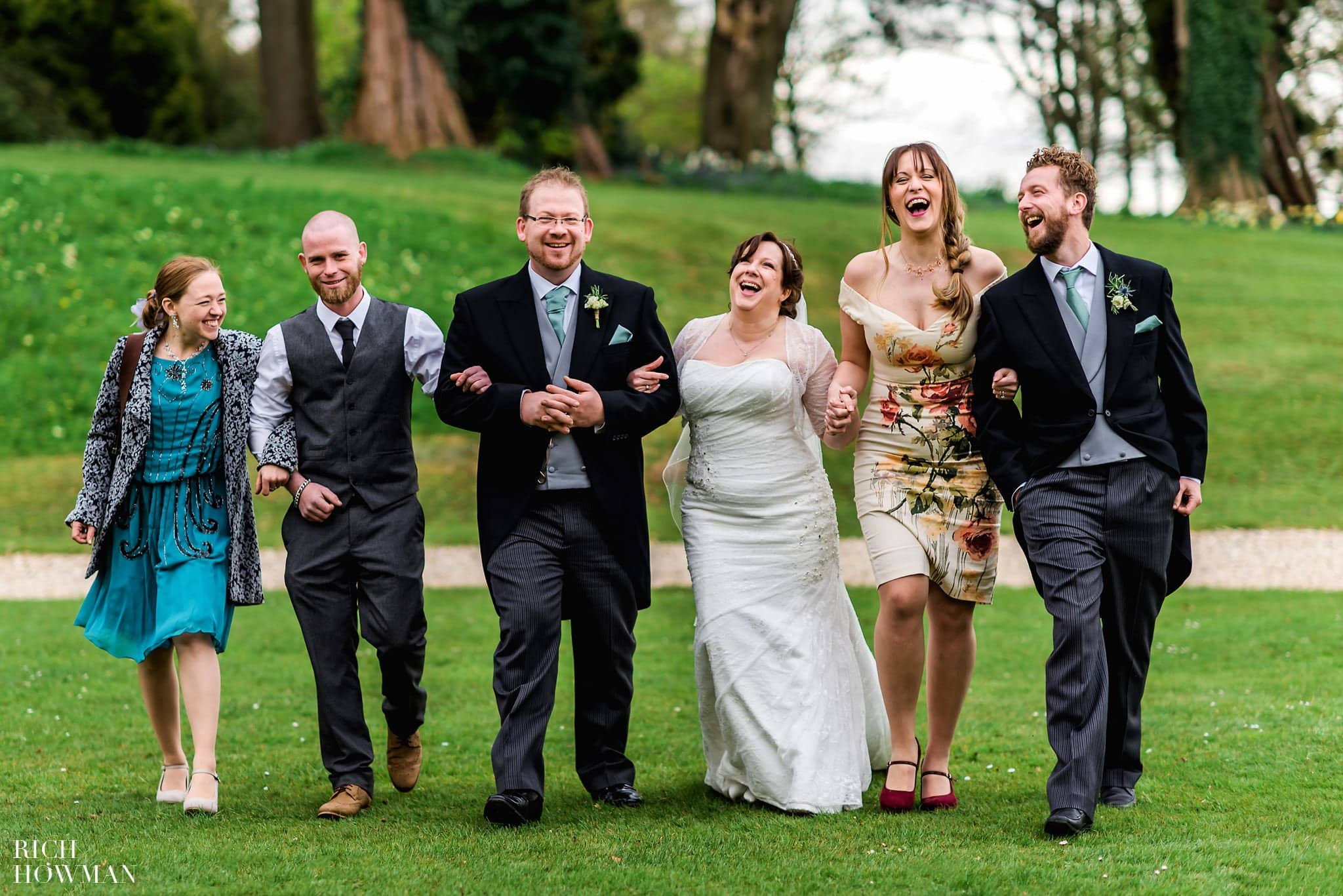 Coombe Lodge Wedding Family laughing