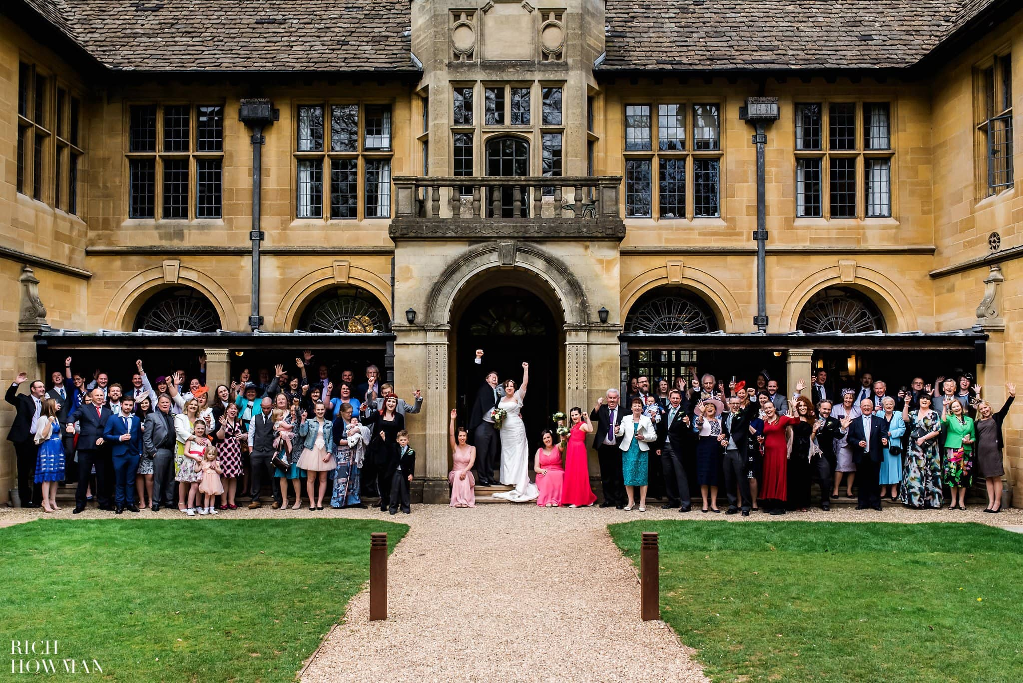 Coombe Lodge Wedding Group Portrait photograph