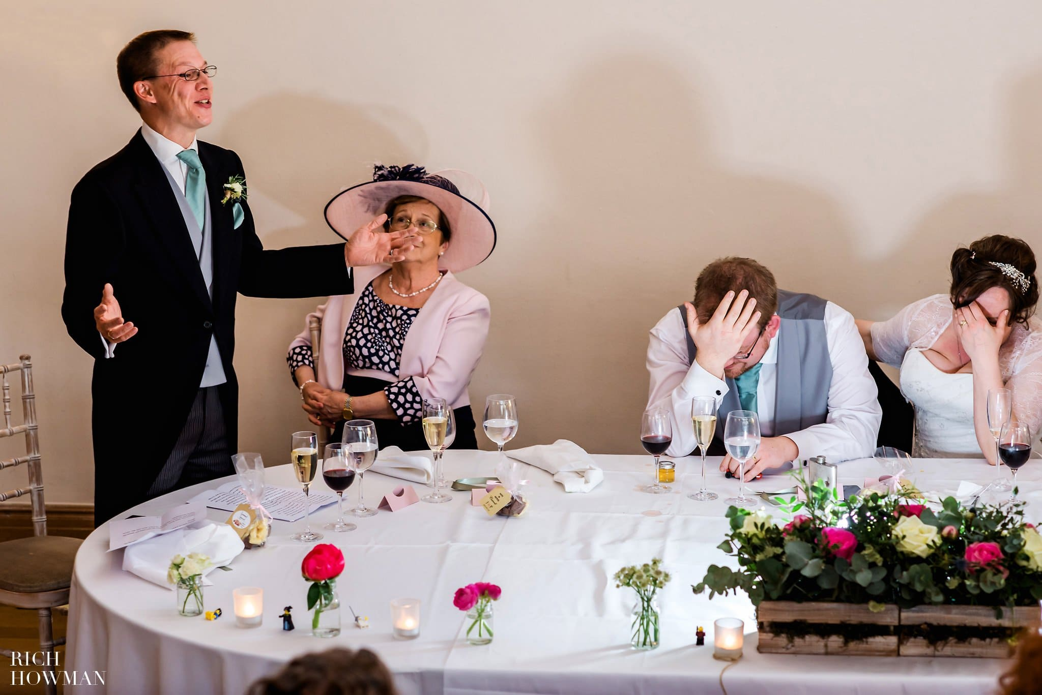 Coombe Lodge Wedding Reception Best mans speech