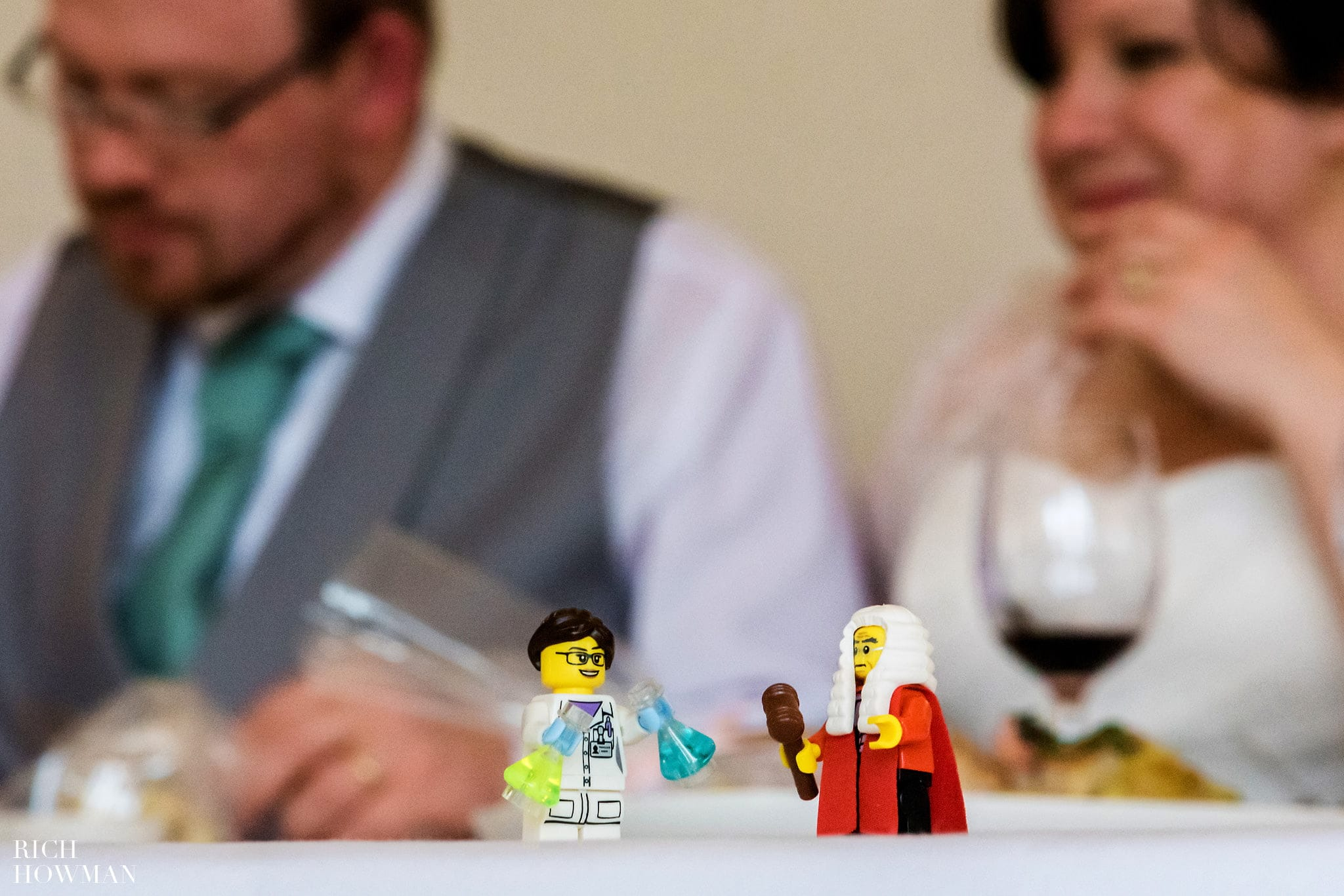 Coombe Lodge Wedding Reception Lego Bride and Groom