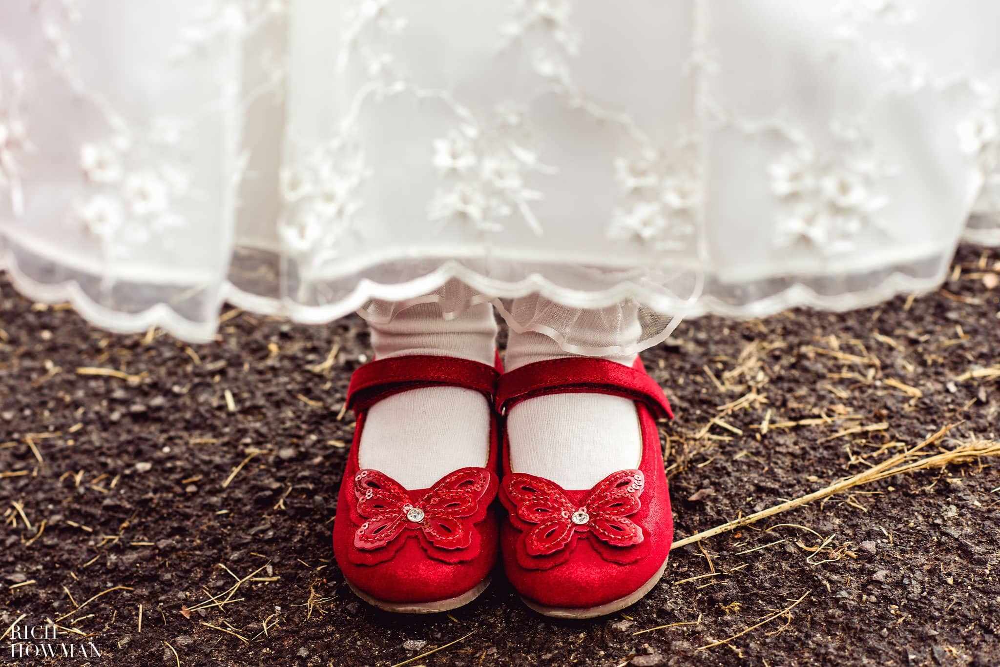 Flower Girl's red shoes
