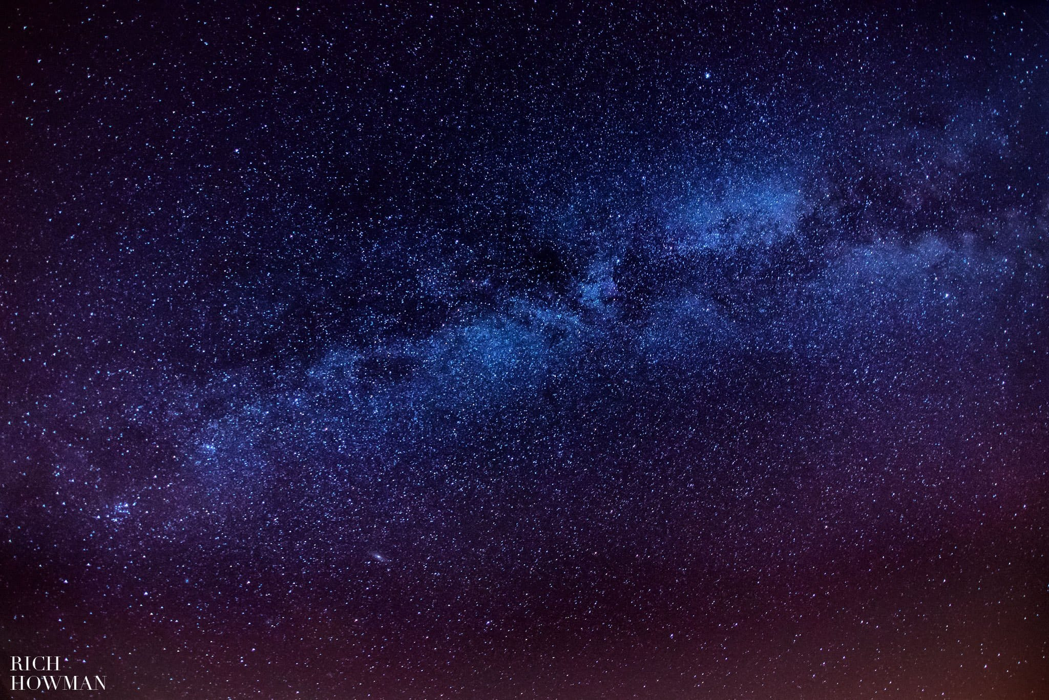 the milky way photographed in the uk