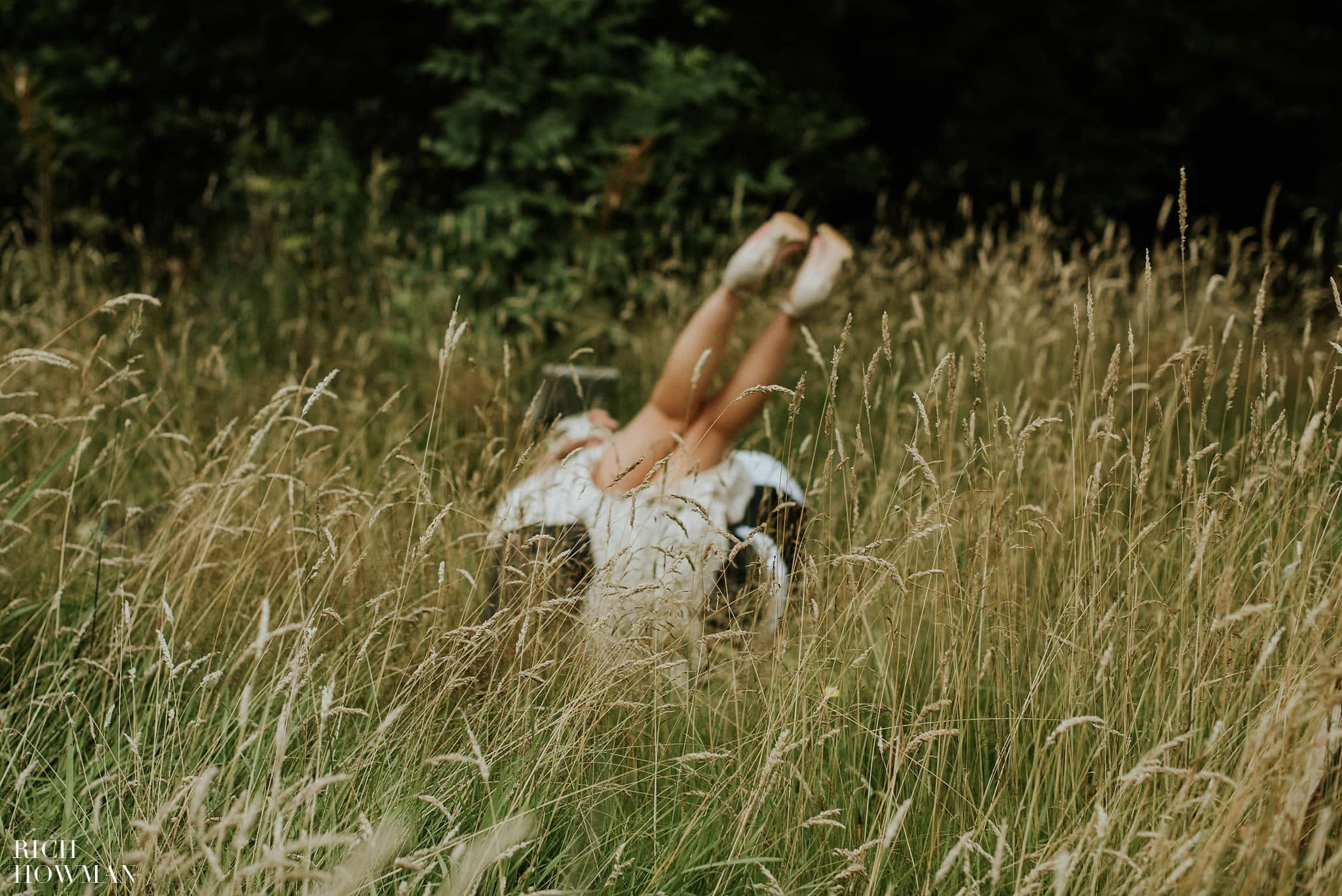 Bride falls over backwards during her wedding photographs at Iscoyd