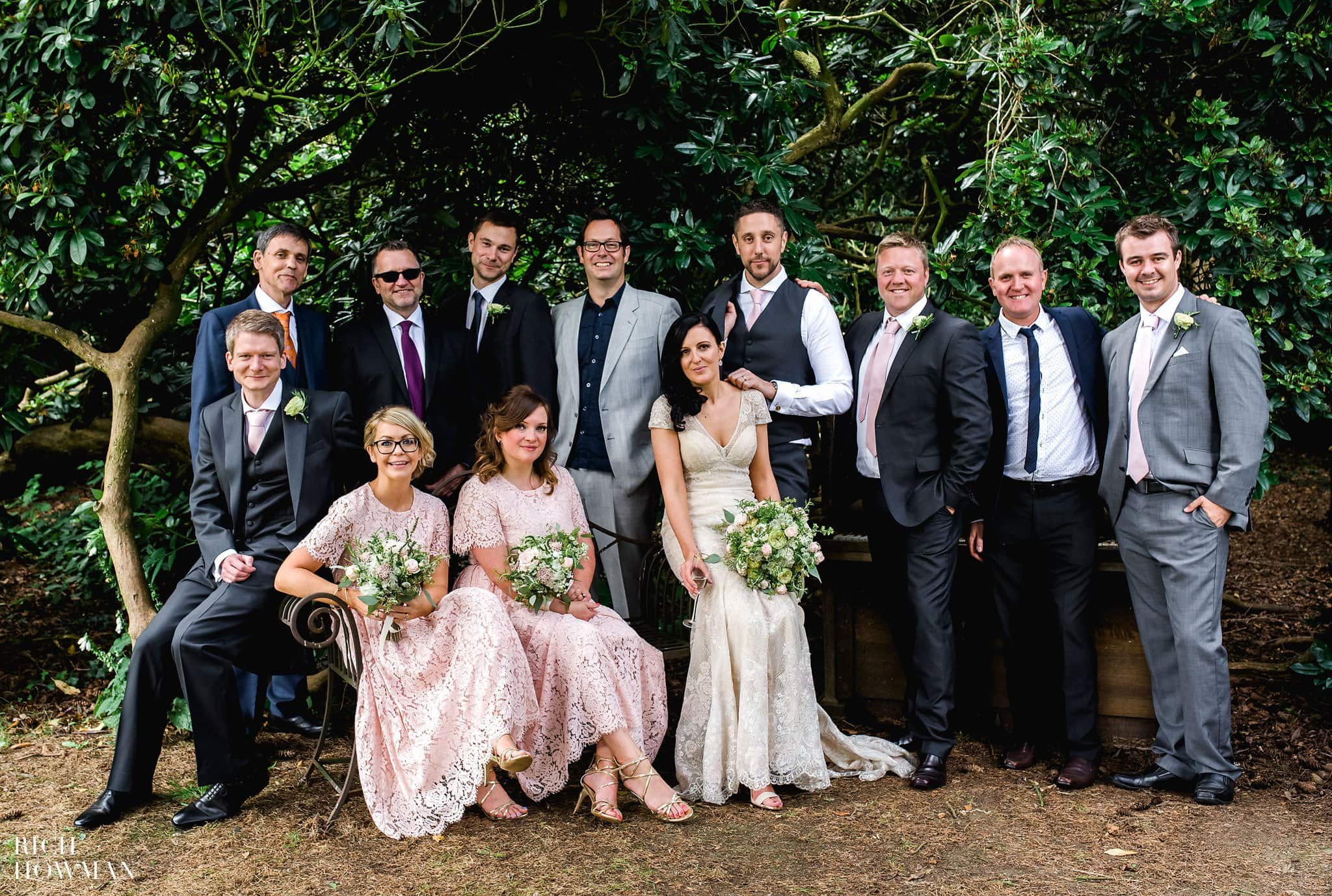 Wedding group portrait