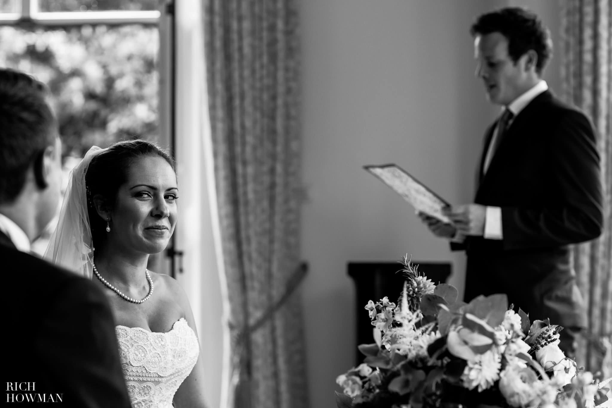 Bride glances at her new husband - documentary wedding photography