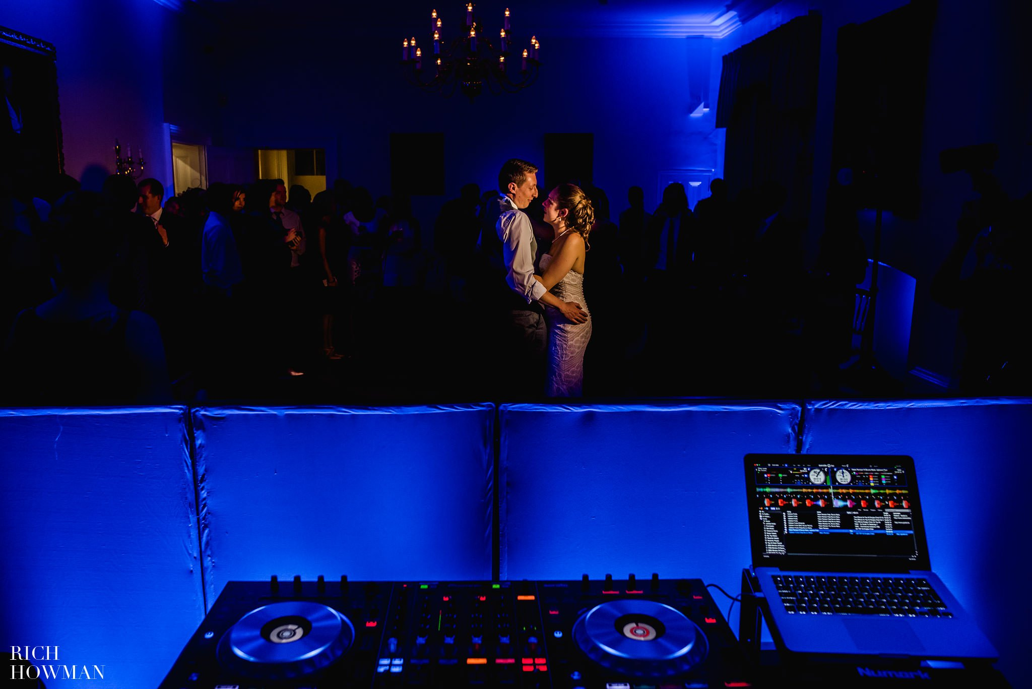 Bride and grooms first dance at Cambridge Cottage wedding.