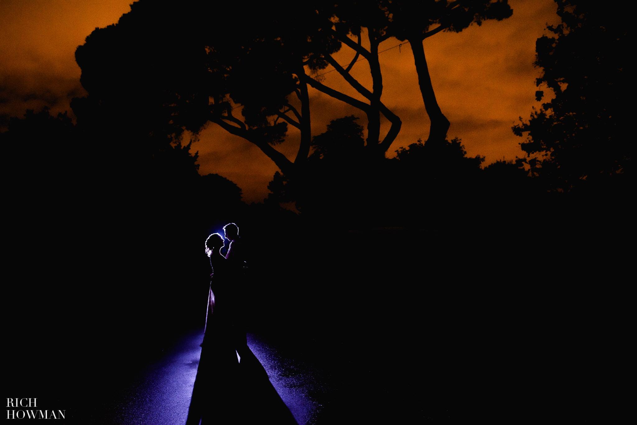 Low light wedding photographer at Kew Gardens, London.