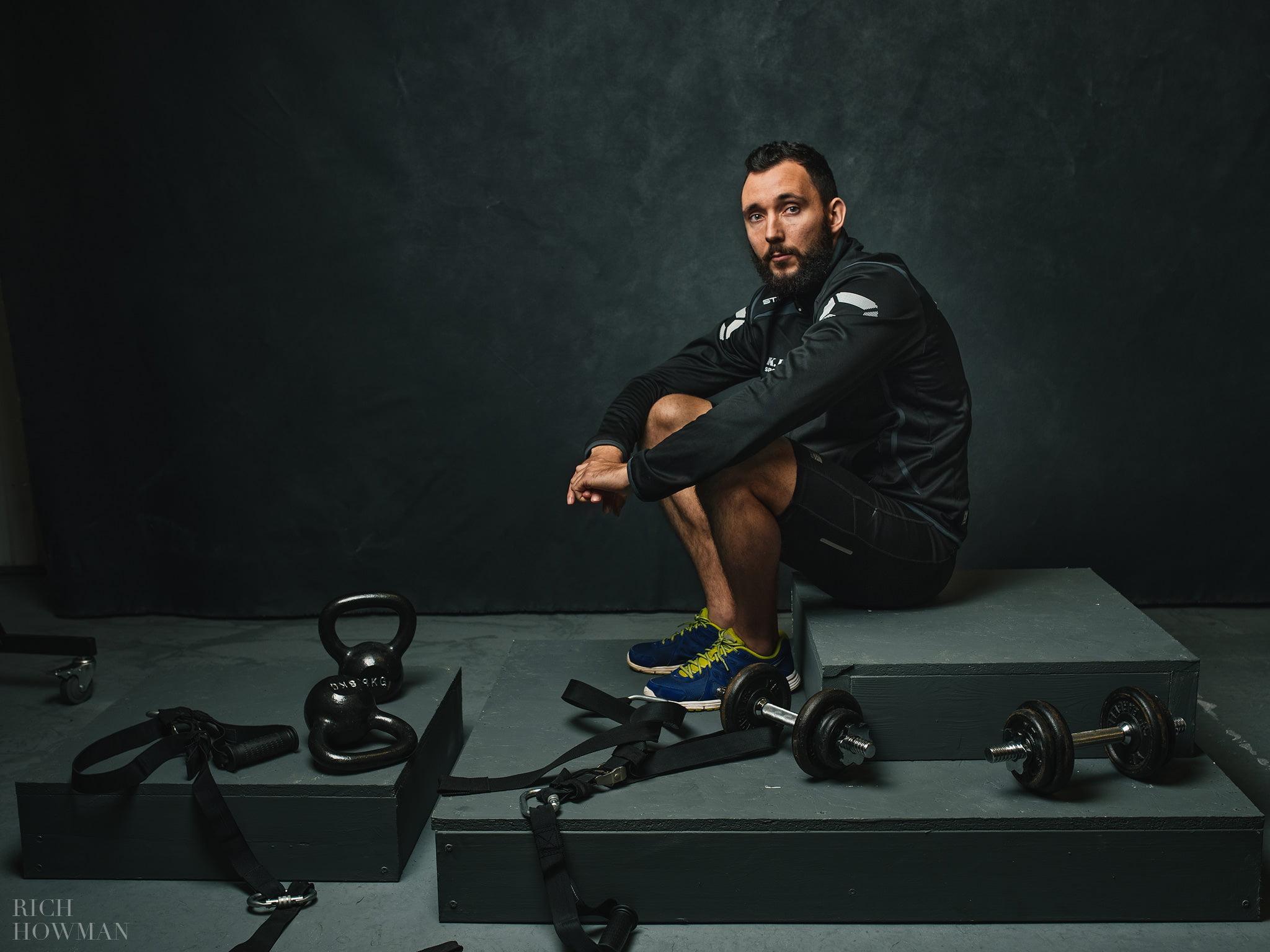 Athlete photo shoot Portrait photographer bristol - sports themed photographs by Bristol photographer Rich Howman