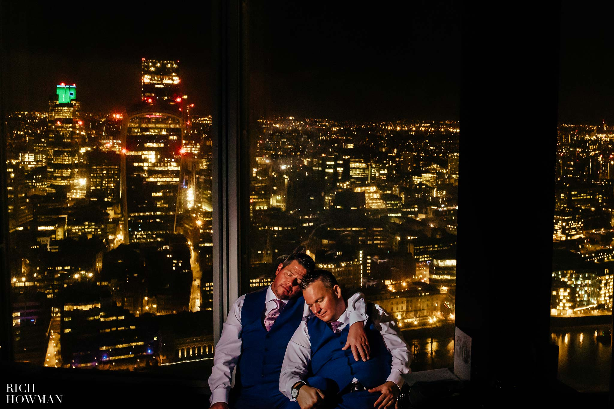 Wedding at the Shard - Gay Wedding at the Shard in London by Photographer Rich Howman