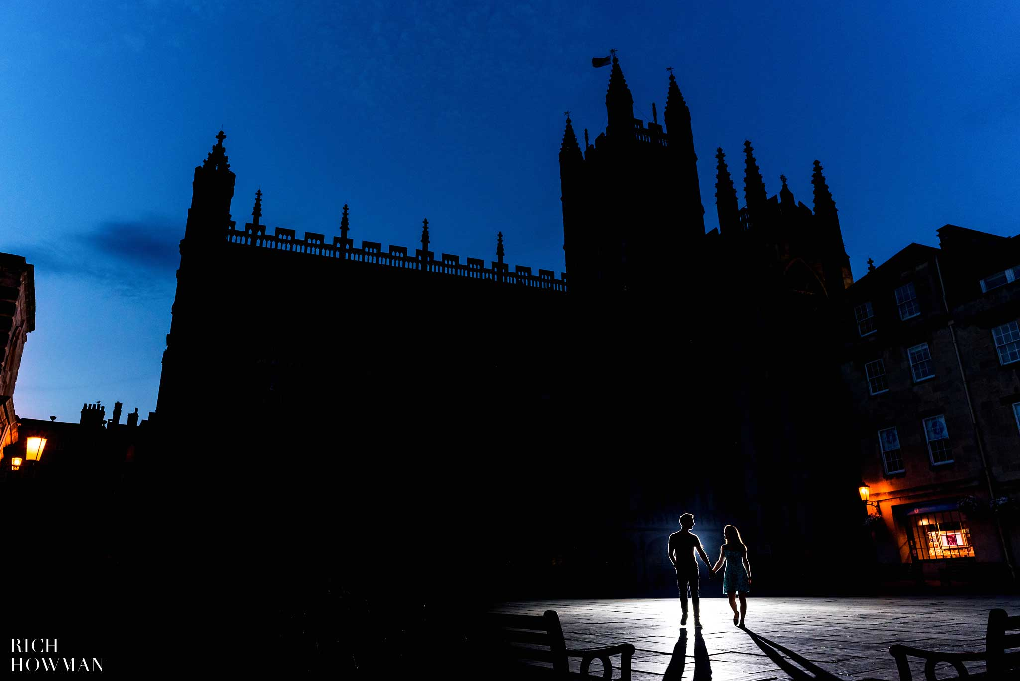 Engagement Photographer Bath - Bath Abbey Courtyard