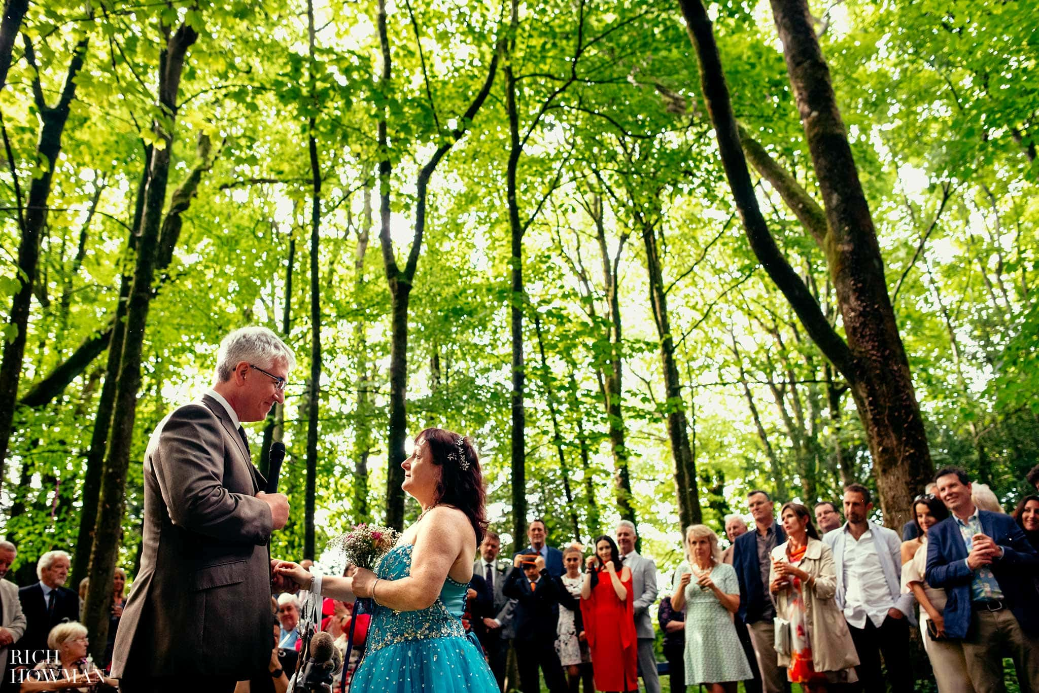 Outdoor woodland ceremony at the Matara Centre