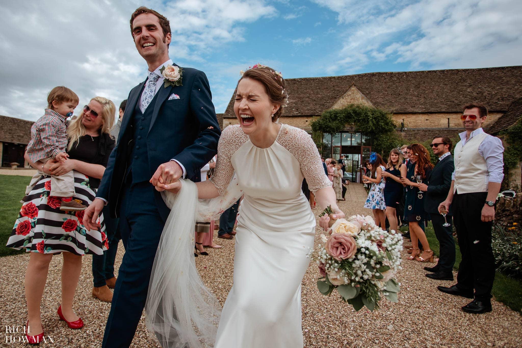Great Tythe Barn Wedding in Tetbury 61