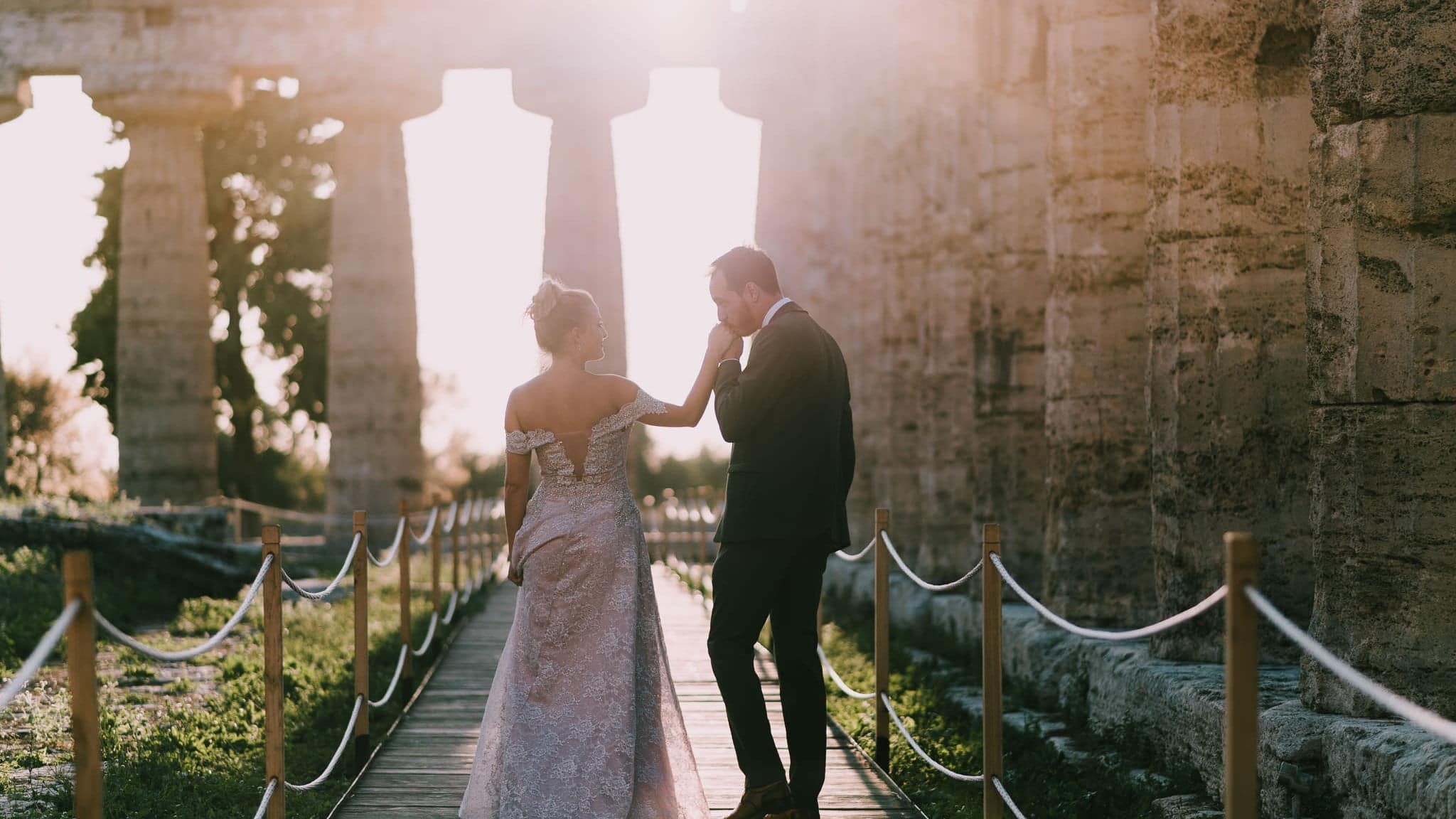 Paestum Temples Wedding Photographer Italy