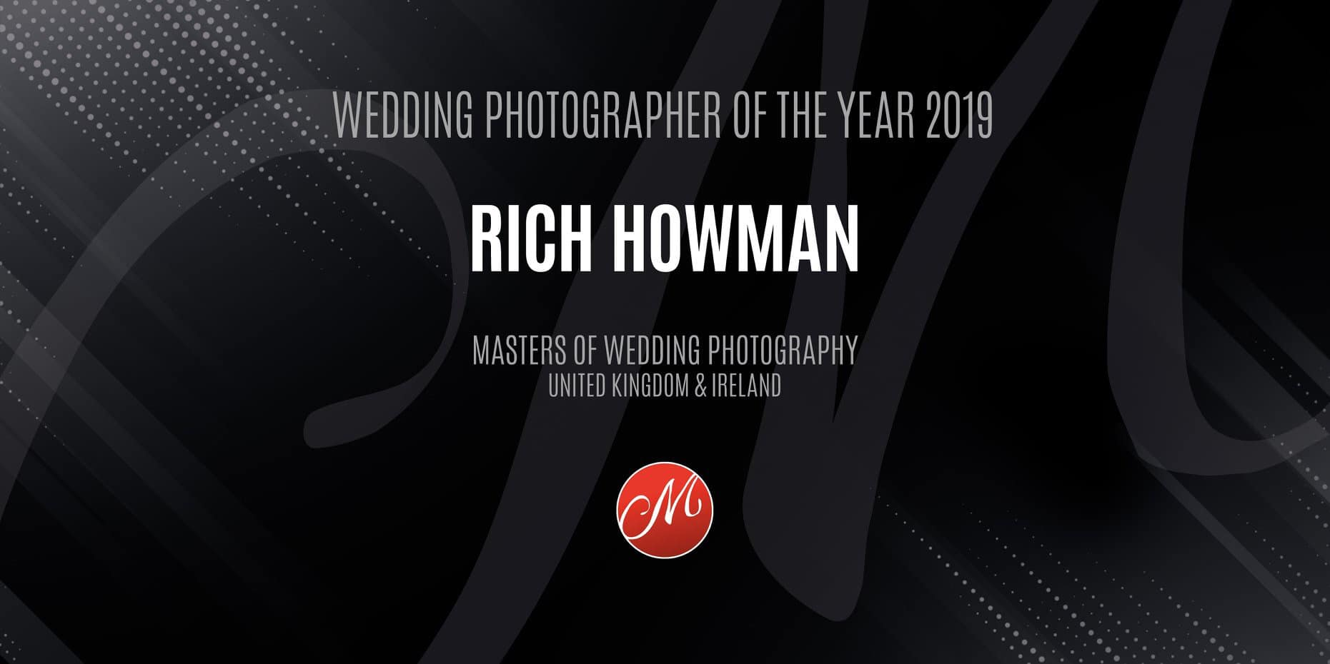 Wedding Photographer of the Year 2019 Rich Howman