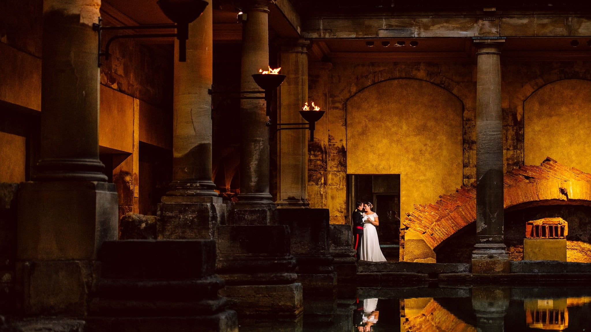 Roman Baths Wedding in Bath